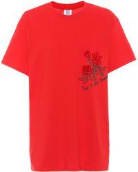 Rosie Assoulin - Printed Cotton T-shirt - Lyst