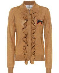 Prada - Ruffled Wool And Silk Jacket - Lyst