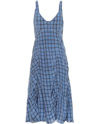 Acne Studios - Checked Midi Slip Dress - Lyst