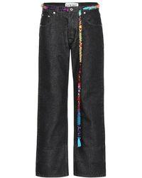 Loewe - Jeans cropped con cintura - Lyst
