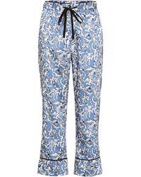 Victoria, Victoria Beckham - Printed Wide-leg Trousers - Lyst