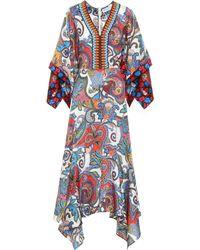 Etro - Printed Silk Dress - Lyst