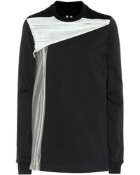 Rick Owens - Draped Cotton Jersey Sweatshirt - Lyst