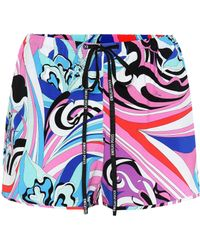 Emilio Pucci - Printed Jersey Shorts - Lyst