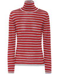 Marni - Striped Wool And Silk Turtleneck Top - Lyst