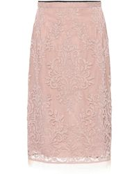 N°21 - Lace Pencil Skirt - Lyst