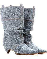 Stella McCartney - Denim Boots - Lyst