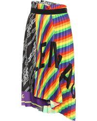 a9363af555 Balenciaga - Rainbow Scarf Crêpe Skirt - Lyst