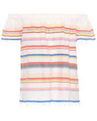 lemlem - Striped Off-the-shoulder Top - Lyst