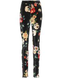 Attico - Floral-printed Velvet Pants - Lyst
