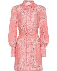 Zimmermann - Robe chemise Heathers Bandana en lin imprimé - Lyst