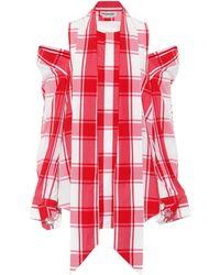 Monse - Checked Cotton Shirt - Lyst