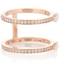 Repossi - Anello Harvest in oro rosa 18kt con diamanti - Lyst