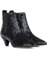 Tabitha Simmons - Ankle Boots Effie mit Pailletten - Lyst