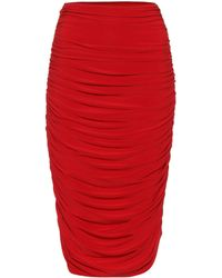 Norma Kamali - Gathered Skirt - Lyst