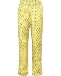 Asceno - Printed Silk Pajama Pants - Lyst