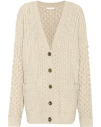 Chloé - Exclusive To Mytheresa. Com – Wool And Cashmere Cardigan - Lyst