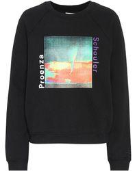 Proenza Schouler - Printed Cotton Sweatshirt - Lyst