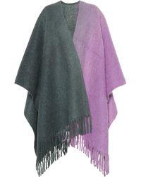 Acne Studios - Cape en laine en alpaga, laine et mohair Kelow Dye Poncho - Lyst