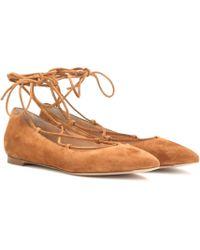 Gianvito Rossi - Suede Ballerinas - Lyst