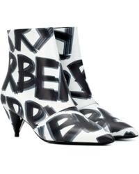 Burberry - Graffiti Leather Ankle Boots - Lyst