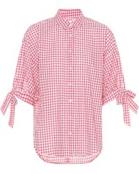 Velvet - Priya Checked Cotton Top - Lyst