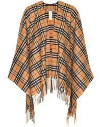 Burberry - Vintage Check Cashmere And Wool Poncho - Lyst