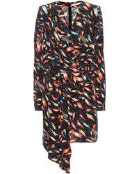 Givenchy - Printed Silk Wrap Dress - Lyst