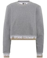 Opening Ceremony - Felpa cropped in cotone - Lyst