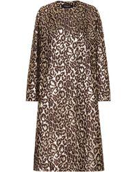 Rochas - Manteau Oxford en brocard de soie mélangée - Lyst
