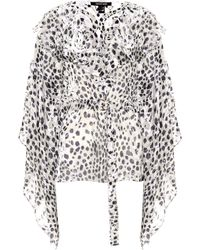 Roberto Cavalli - Leopard Jacquard Blouse - Lyst