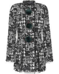 Dolce & Gabbana - Veste longue en tweed - Lyst