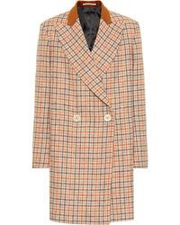 Golden Goose Deluxe Brand - Checked Wool Coat - Lyst