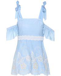 Athena Procopiou - Off-the-shoulder Cotton Top - Lyst