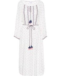 Velvet - Isilda Floral Embroidered Dress - Lyst