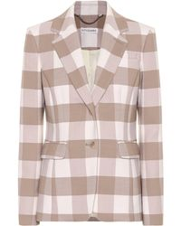 Altuzarra - Checked Stretch Wool Blazer - Lyst