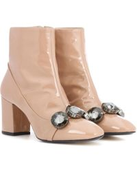 N°21 - Tino 100 Patent Leather Ankle Boots - Lyst