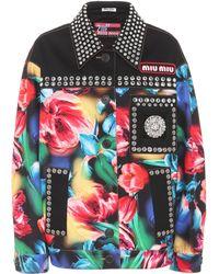 Miu Miu - Embellished Denim Jacket - Lyst