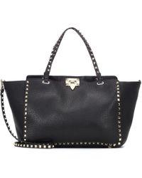 Valentino - Garavani Rockstud Leather Tote - Lyst