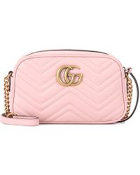 57cdeaec174 Lyst - Gucci  gg Marmont 2.0  Crossbody Bag in Pink
