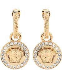 Versace Ohrringe mit Kristallen - Mettallic