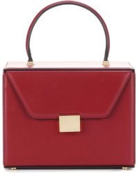 Victoria Beckham - Vanity Box Leather Tote - Lyst