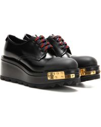 Fashion Style Inexpensive For Sale Embellished leather brogues Prada 6e84P2a
