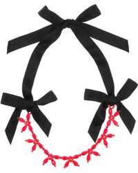 Simone Rocha - Crystal And Ribbon Necklace - Lyst
