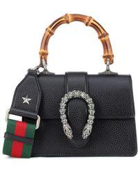 1e791b1b428f Gucci - Dionysus Mini Leather Shoulder Bag - Lyst