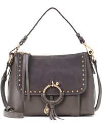 See By Chloé - Joan Small Leather And Suede Crossbody Bag - Lyst