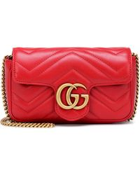 8099a532c23f67 Gucci - Gg Marmont Matelasse Leather Mini Chain Shoulder Bag - Lyst