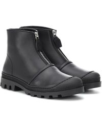 Loewe - Leather Ankle Boots - Lyst