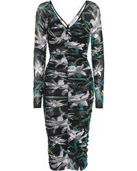 Diane von Furstenberg - Ruched Floral Dress - Lyst