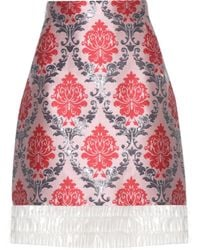 Mary Katrantzou - Renzie Brocade And Translucent Skirt - Lyst